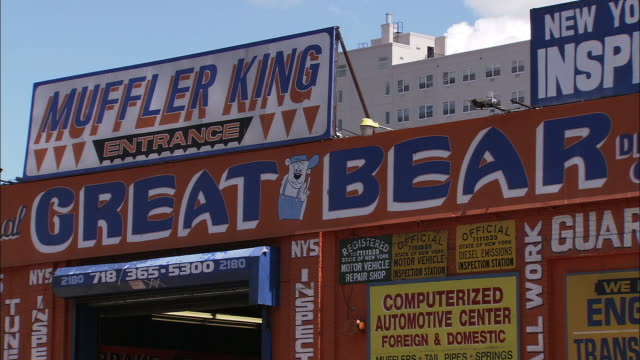 Signage of the Great Bear Auto Center (aka Muffler King)