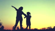 Silhouette Happy Family,
