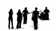 Silhouette of a praise band