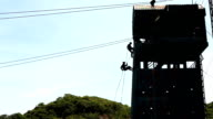 Silhouette of a Rappel