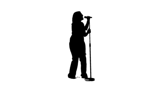Silhouette of a singer