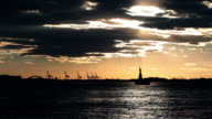 Silhouette of the Statue of Liberty