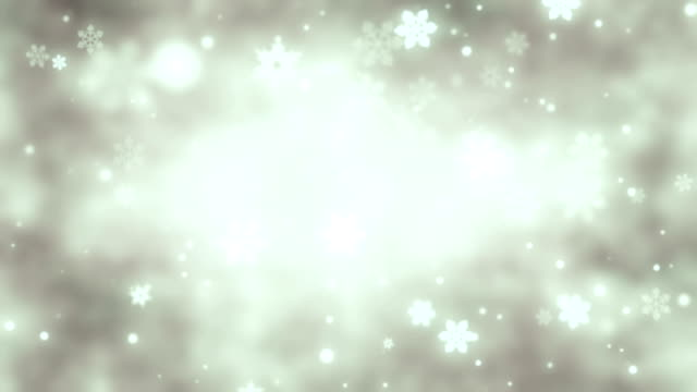 Silver background with snowflakes loop
