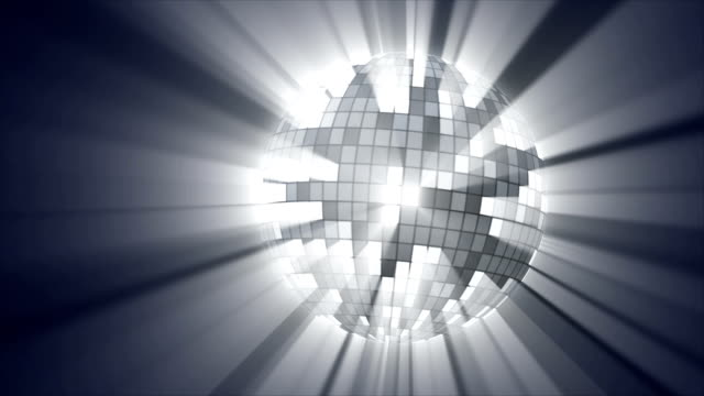 silver ball party lights LOOP