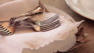 CU ZO silver forks and napkins