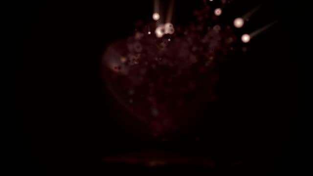 Zilveren hart deeltje animatie