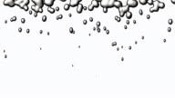 Silver liquid drops