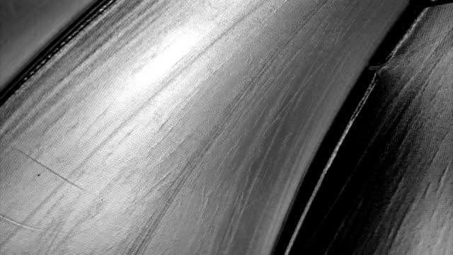 Argento sfondo di rotazione
