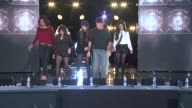 Simon Cowell and Fifth Harmony Dinah Jane Hansen Lauren Jauregui Ally Brooke Normani Hamilton Camila Cabello at The XFactor Season Finale Press...