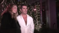 Simon Cowell Lauren Silverman on her Pregnancy Cravings and Miley Cyrus Twerking at Boa in West Hollywood Celebrity Sightings in Los Angeles CA on