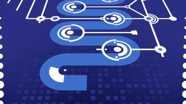 Einfache Blau Abstraktion für kabellosen Technologie, Wissenschaft, soziale Netzwerke, usw.