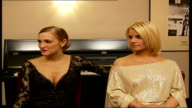 Simpson sisters interview Jessica Simpson interview SOT she was amazing tonight/ knew beforehand she would be amazing Ashlee Simpson interview SOT...