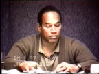 OJ Simpson's civil trial deposition 135PM 1/25/96 Petrocelli grills OJ about Nicole's diary and past beatings