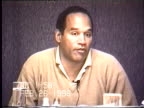 OJ Simpson's civil trial deposition 157PM 2/26/96 Questions about the details of OJ cleaning up the broken glass in his Chicago hotel room and the...