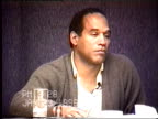 OJ Simpson's civil trial deposition 326 PM 1/23/96 Questions concerning the play by play of OJ getting ready to leave in Alan Park's limo and talking...