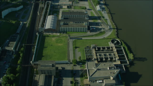 Sing Sing Prison New York 4k Aerial Day Overhead Prison