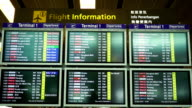 Singapore Airport departure board.