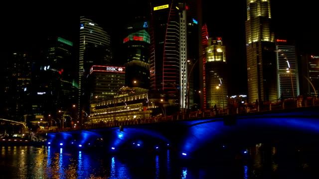 Singapur Stadt bei Nacht
