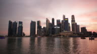 WS Singapore city skyline at sunset