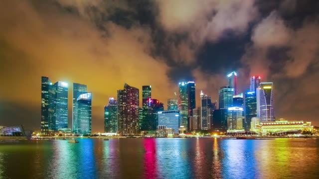 Singapore Cityscape at dusk.