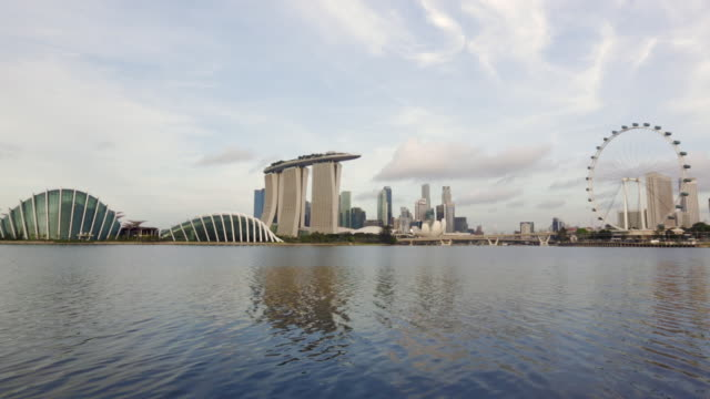 WS Singapore cityscape with Marina Bay Sands,  Singapore Flyer and business district