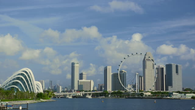 WS Singapore cityscape with Singapore Flyer and Suntec City