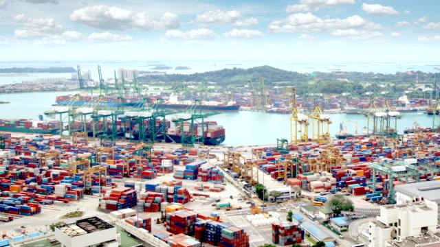 Singapur Docks und Container