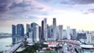 Singapur Abenddämmerung Panorama