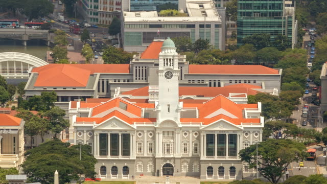 Singapore HyperZoom to the Victoria Theater clock tower