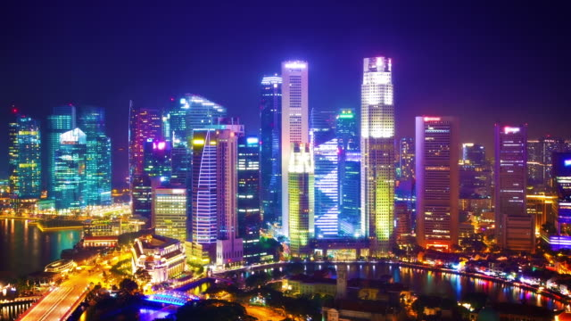 Panorama de singapour dans la nuit film vid o getty images for Exterieur nuit film