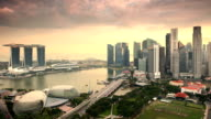Singapore Sunset Time Lapse