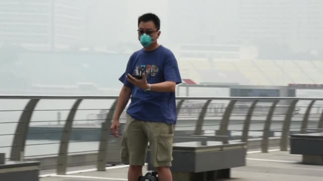 Singapore's air quality reaches very unhealthy levels as thick smog from forest fires in Indonesia's neighbouring island of Sumatra choked the city...