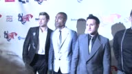 Singers Duncan James Anthony Costa Simon Webbe and Lee Ryan from Blue at the Capital FM Summer Ball at London England