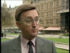 EC Single currency/WEU ITN MS David Mellor MP John Gummer MP out No 10 ZOOM IN LMS Peter Lilley MP chatting Michael Howard MP another CMS SIDE...