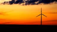 Single wind turbine in Iowa
