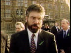London Westminster Sinn Fein MPs Gerry Adams and Martin McGuinness along with others Gerry Adams MP intvwd Oath of allegiance is not the problem...