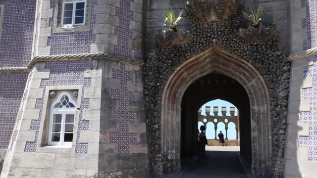 Sintra, Pena National Palace, view of the entrance to the great balcony