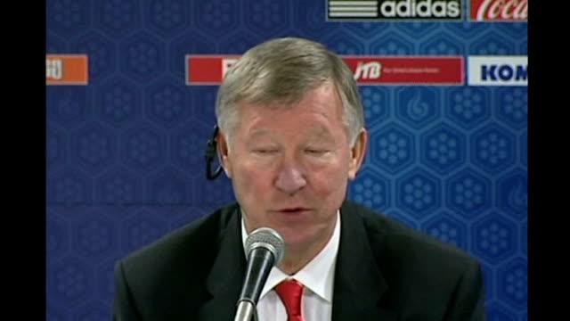 Sir Alex Ferguson on selling Ronaldo to Real Madrid JAPAN Yokohama INT Sir Alex Ferguson press conference SOT Do you think I would enter into a...