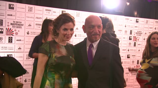 Sir Ben Kingsley and Anna Friel at the British Independent Film Awards at London