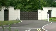 Sir Cliff Richard residence in Sunningdale ENGLAND Berkshire Sunningdale EXT Gated entrance to Charters apartment complex where singer Sir Cliff...