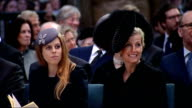 Sir David Frost memorial service at Westminster Abbey ENGLAND London Westminster Abbey INT Prince Charles Prince of Wales and Camilla Duchess of...
