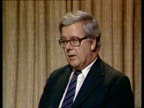 Sir Geoffrey Howe interview on civil service pay strikes ENGLAND London INT Sir Geoffrey Howe interview SOT Archive Tape 14167 V81/3113 TX 7481/NAF...