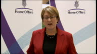 Sir Ian Blair resigns as Metropolitan Police Commissioner Jacqui Smith statement ENGLAND London Home Office INT Jacqui Smith MP press conference SOT...