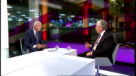 Sir Mervyn King interview Sir Mervyn King LIVE STUDIO interview SOT On British economy and austerity / we don't have a crystal ball / since 2010 we...