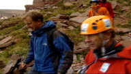 Sir Ranulph Fiennes training for Eiger climb ReaySmith and Sir Ranulph Fiennes along to start of training climb PAN