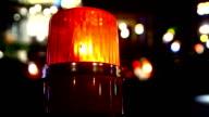 siren light on road