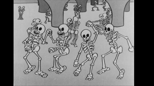 Skeletons dancing