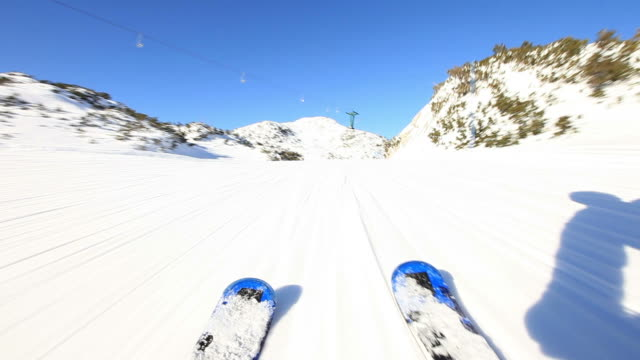 HD: Ski downhill on skis