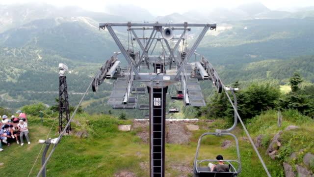 ski lift on the mountain