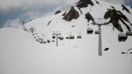 ski lift timelapse